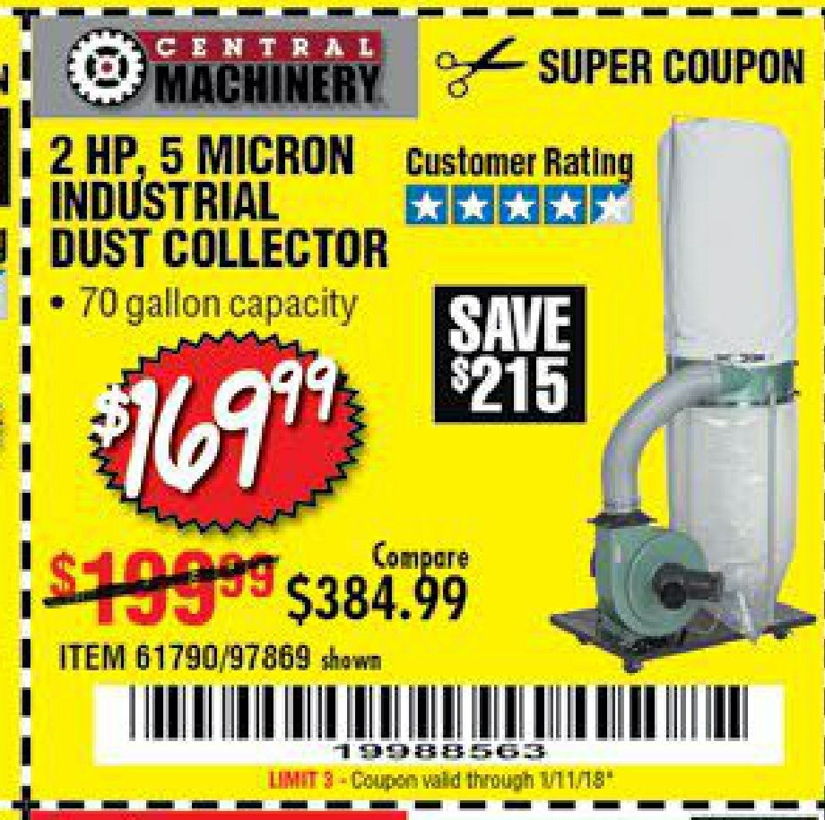Harbor Freight Dust Collector Coupon 2018