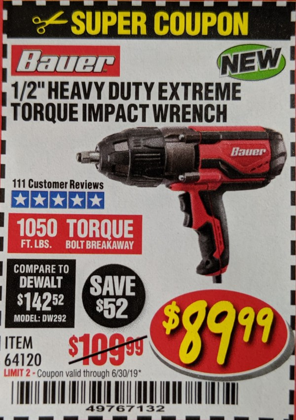 Bauer Impact Harbor Freight - Year of Clean Water