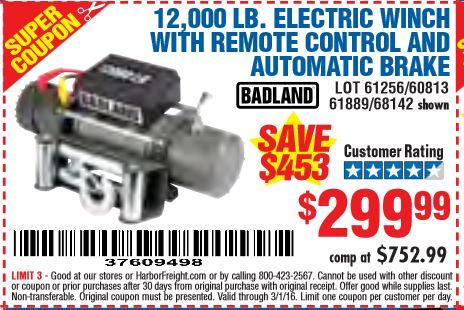 harbor freight 12000 winch wiring diagram yamaha g14 badlands coupon sham store tools database free coupons 25 percent off rh hfqpdb com 2018
