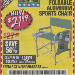 Folding Sports Chair Low Back Chairs Camping Harbor Freight Tools Coupon Database Free Coupons 25 Percent Off Foldable Aluminum Lot No 66383 62314 63066 Valid Thru 4 13 19 21 99