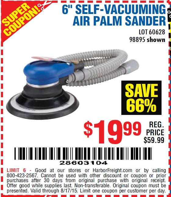 Palm Sander Harbor Freight