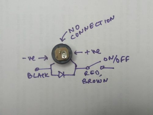 small resolution of pick up the 3 pin dc connector with cables and the 1n4007 diode it is black in colour here is what the dc connector looks like from the back