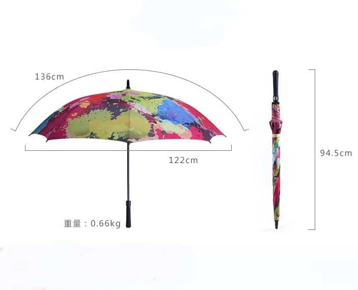 Full Digital Printing Custom Design Cool Fashion Umbrellas