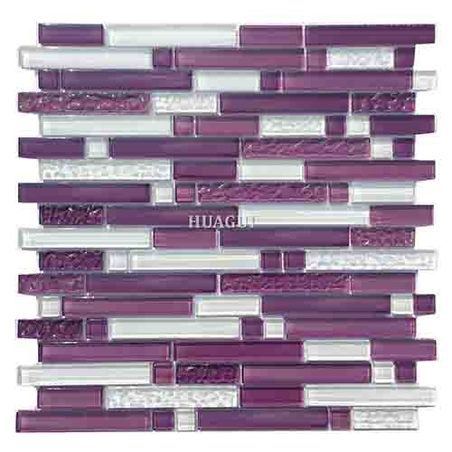 purple crystal glass mosaic with