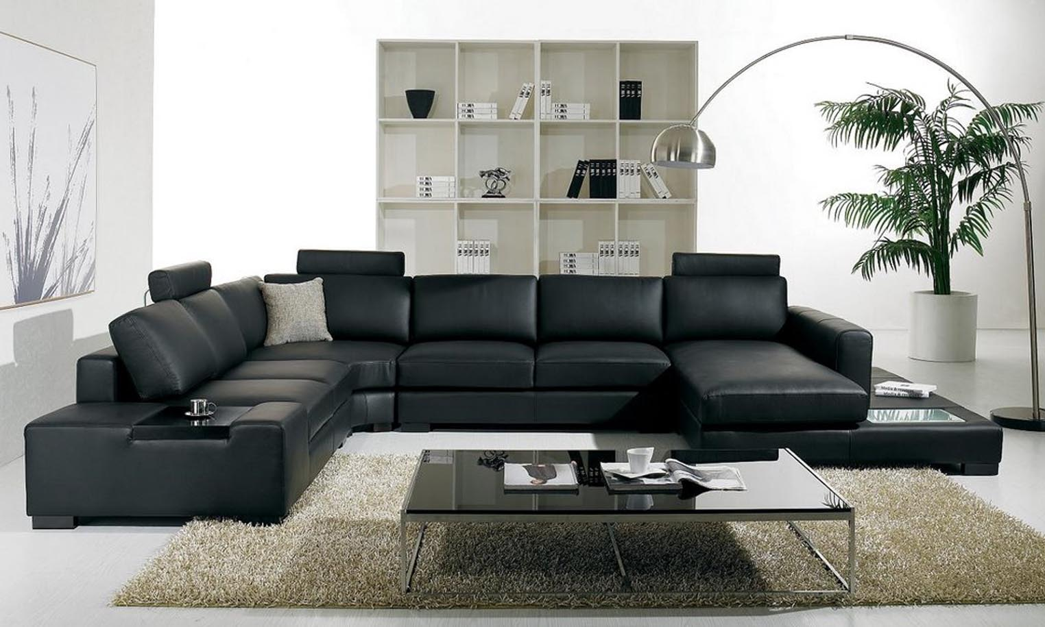 leather sofa set for living room colour schemes rooms green black sets inspiring ideas hgnv luxury sectional interior decoration with cool glass top coffee table