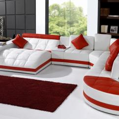 Leather Sofa Sets For Living Room Best Color 2018 10 Luxury Set Designs That Will Make You Excited Hgnv Com View In Gallery Modern Contemporary White Red