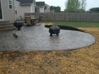 Stamped Concrete Patio Floor Design & Pattern With [10 ...