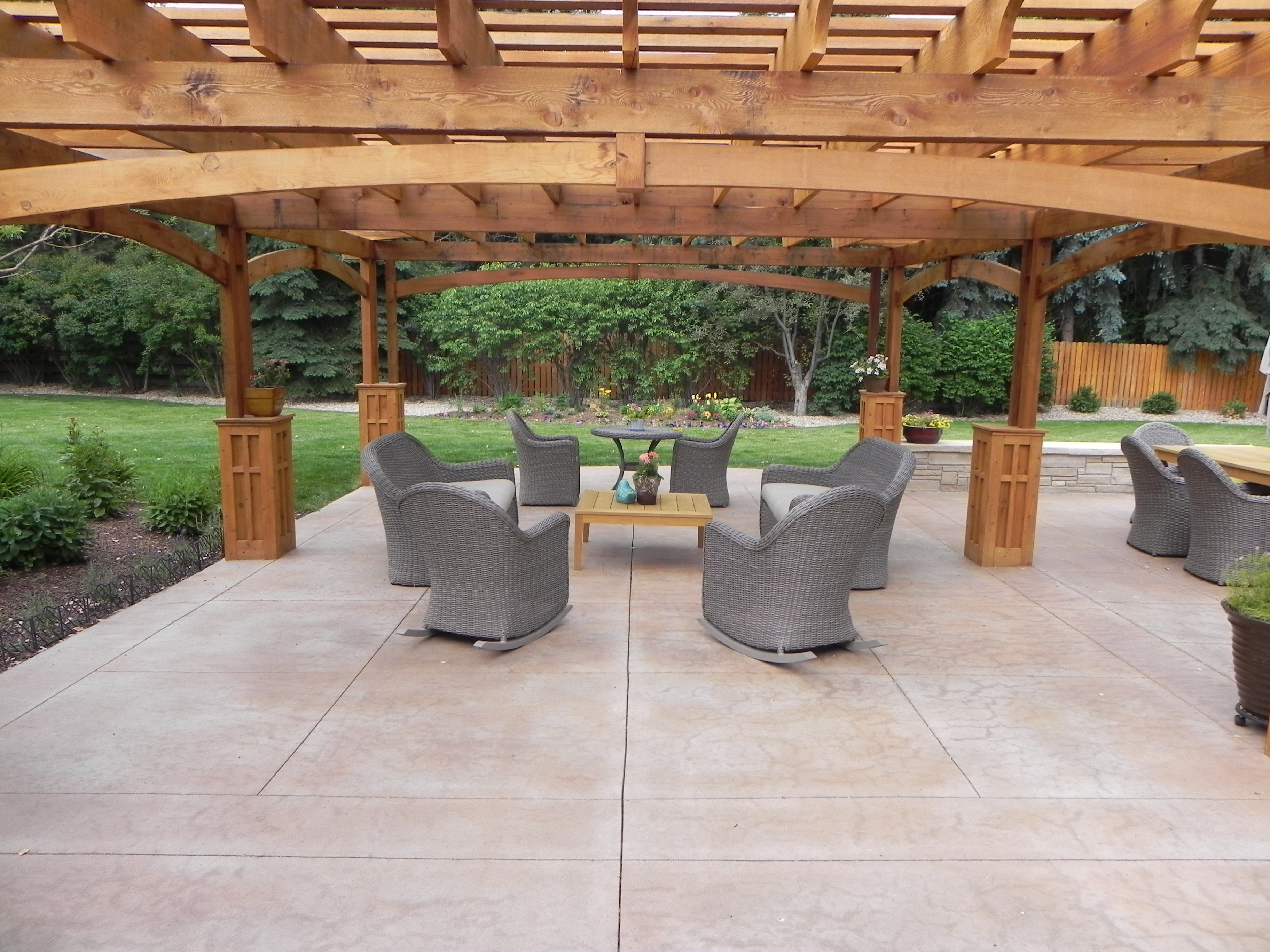 Stamped Concrete Patio Floor Design  Pattern With 10