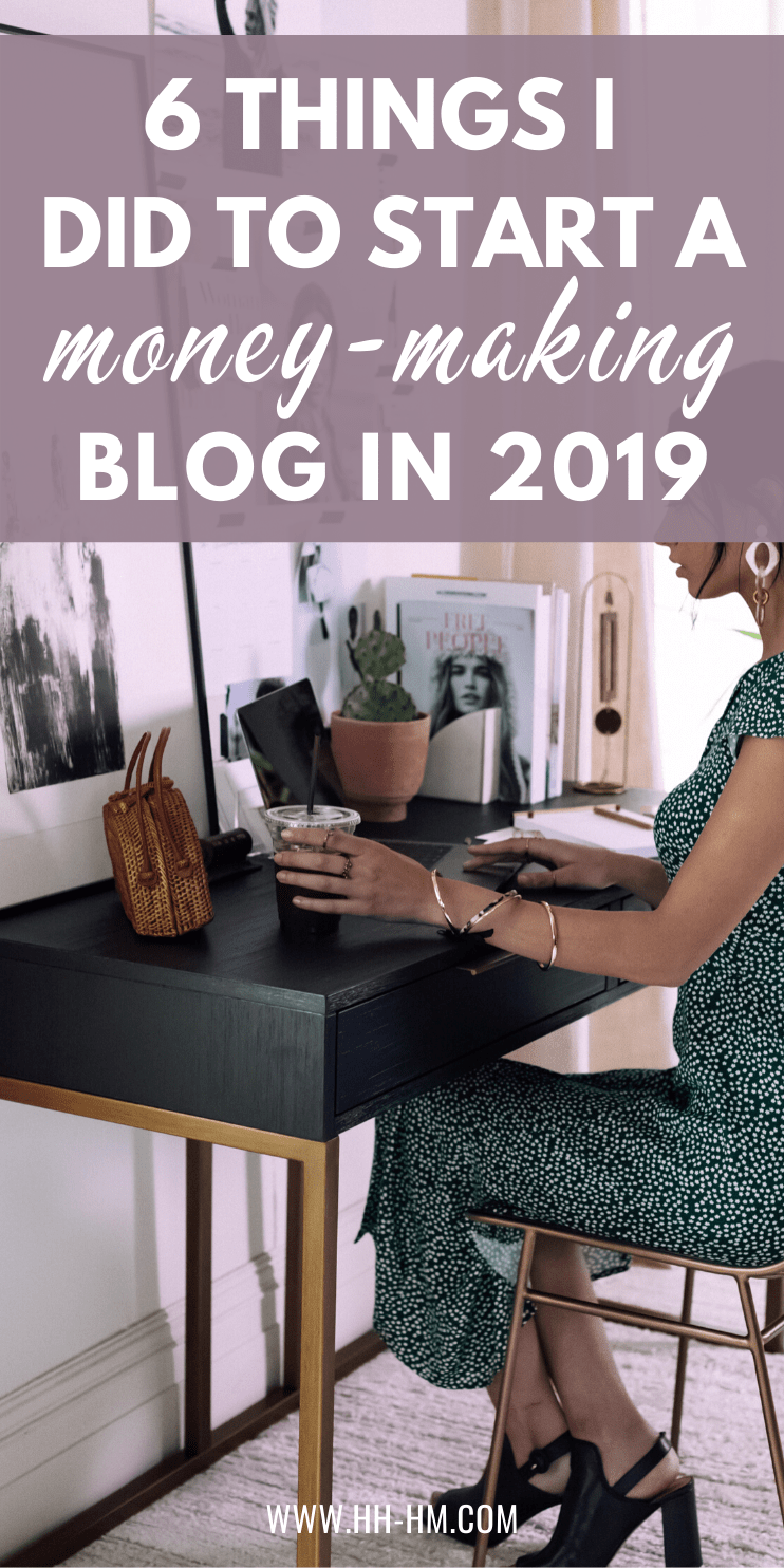 The 6 things I did to start a money-making blog in 2019 without experience! These are the blogging tips and ideas that have definitely worked for me and helped me grow my blog traffic and make money blogging. Learn about the best blogging niches, how to write your first blog post and how to grow your traffic and monetize it!