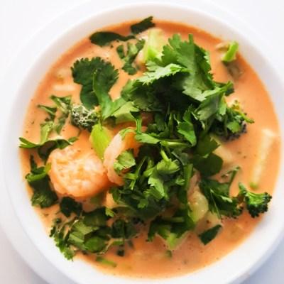 Easy Coconut Curry Shrimp Soup – Low-Carb & Keto