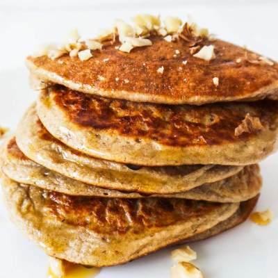Oatmeal Pear Pancakes