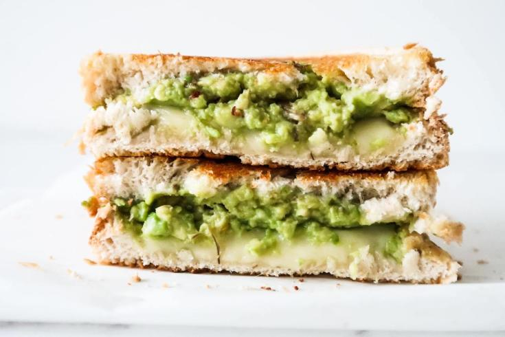 Garlic Avocado Grilled Cheese Sandwich