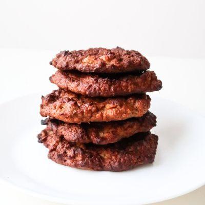 Meal Prep Healthy Apple Pancake Breakfast Cookies (Flourless)