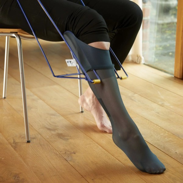 Put compression socks on easily with our Ezy-On Tall stocking frame. Ideal if you are recovering from surgery.