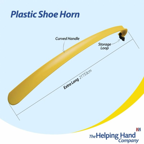 The long handle gives excellent reach and makes this product ideal for those with limited mobility. The shoe horn also has a hanging loop attached to the handle for easy and convenient storage. Our robust shoe horns have a curved handled which can be used for pulling socks up, as well as putting shoes and boots on, and the smooth and round edges to prevent damage to shoes or legs.