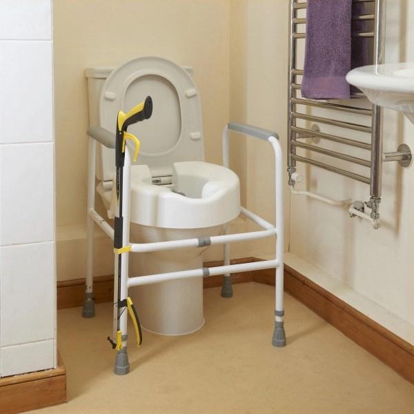 Attach your reacher/grabber to a chair leg, walking stick, wheelchair, crutch or walking frame or toilet frame using a handy stick clip