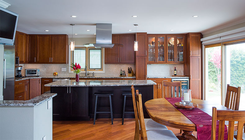 kitchen remodel hawaii quarter sawn oak cabinets combines form function beautifully remodeler in kai by homeowners