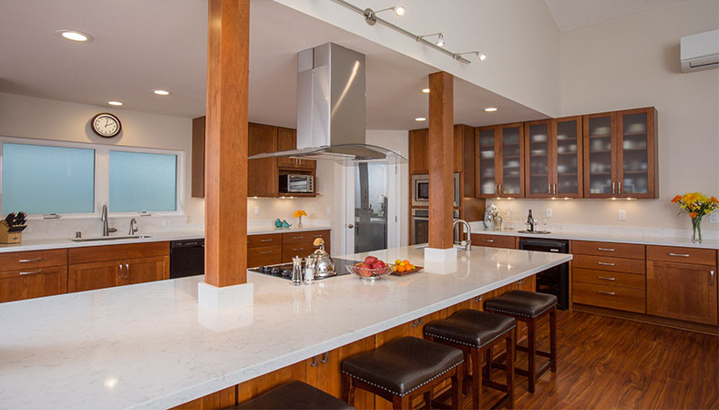 kitchen remodel hawaii arm chairs knocks down walls to triple size it remodeler homeowners design center sizes
