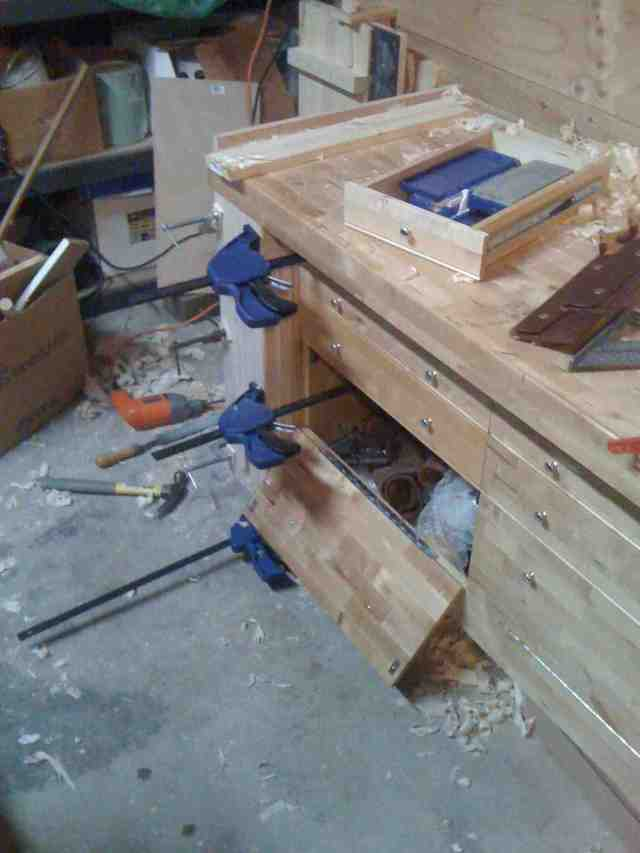 Adding a leg vise to a cheap Grizzly workbench