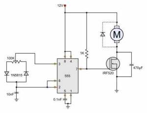 12V DC Motor Speed Control Circuit Diagram  HHO