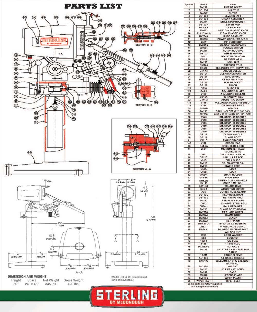 medium resolution of sterling drill grinders all models