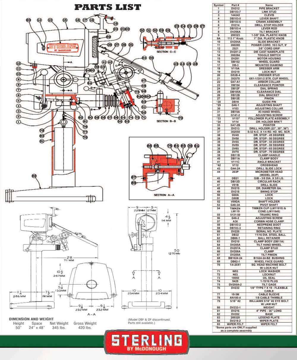 hight resolution of sterling drill grinders all models