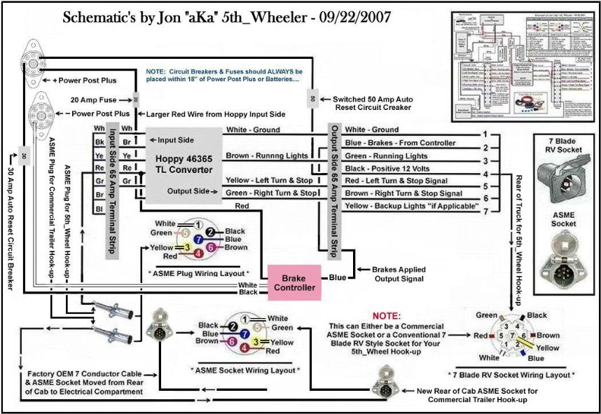 Wiring Diagram For Semi Trailer Lights