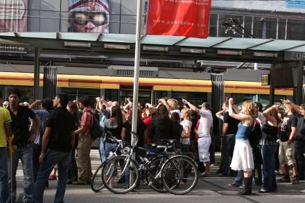 Flashmobbing @ Europaplatz Karlsruhe