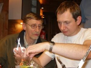 Jøren og Lennart i dyb koncentration