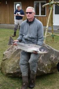 Peter Hønholt med en laks på 9.6 kg og 99 cm (2018)