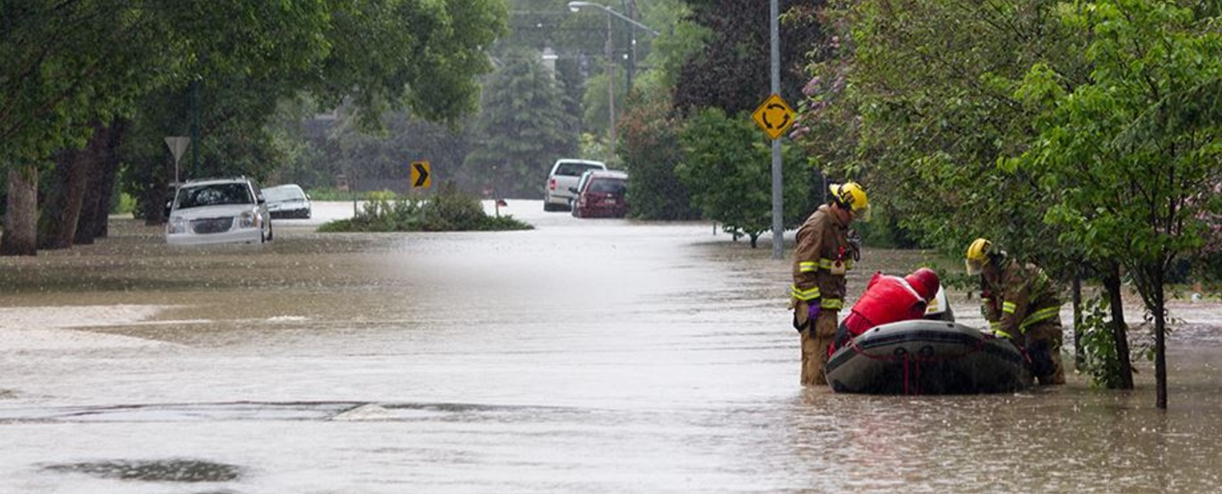 Harvey Flooded Street