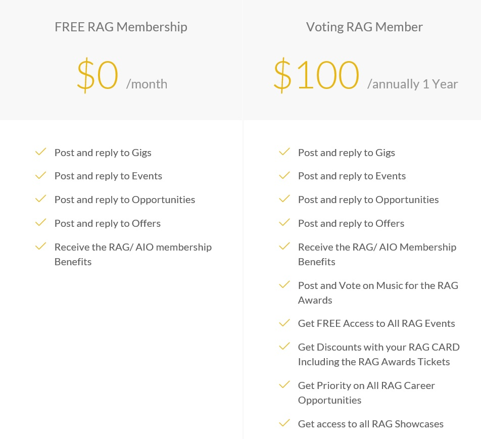 RAG Membership
