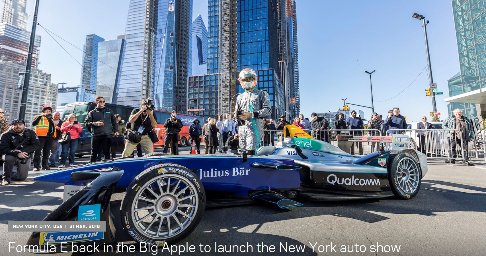 News atx formula e was back in manhattan to open new york international auto show nyias it was the first time the official championship car will ran on the roads fandeluxe Images