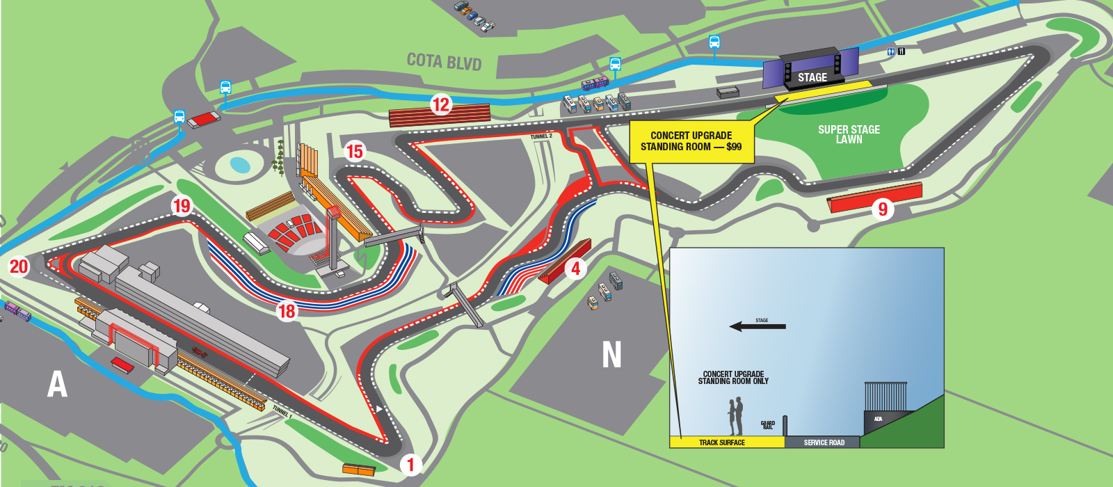 Formula 1 2018 Map of stage