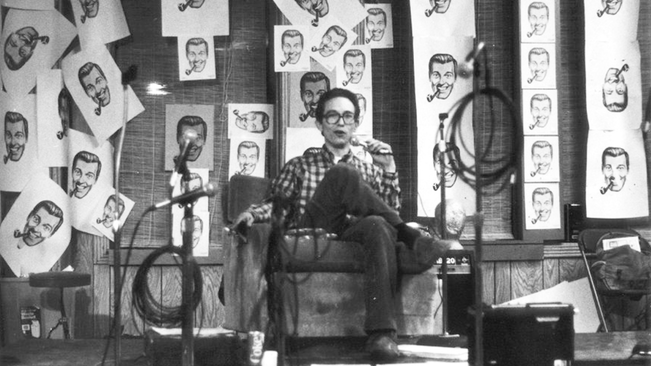 """0036cf16c48 J.R. """"Bob"""" Dobbs and The Church of the SubGenius   by Sandy K Boone — This  film explores the underground movement that has galvanized the imaginative"""