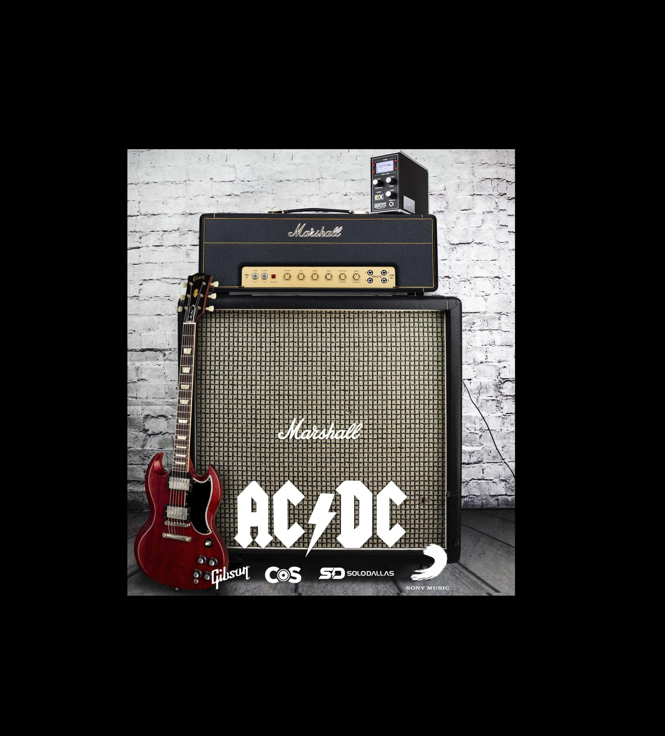 ACDC Back in Black Border Cut