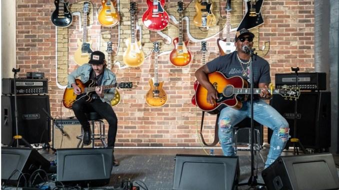 Jimmie Allen performs at the Gibson Garage in Nashville