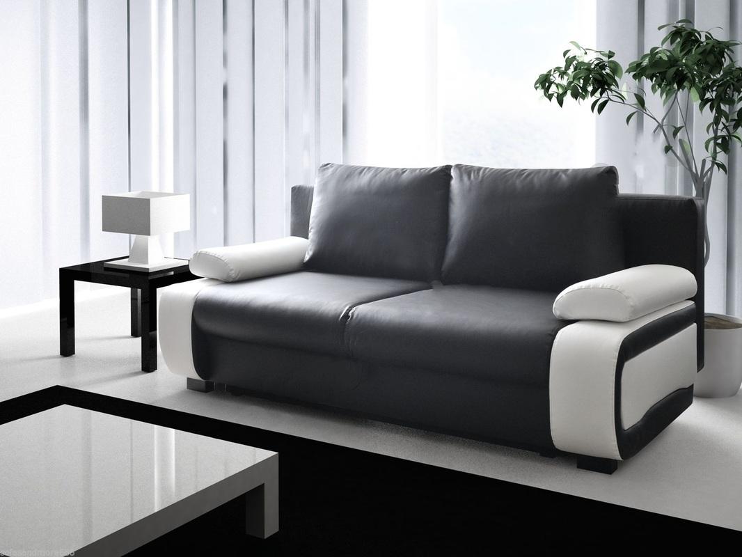black and white leather sofa bed versailles set vicki hi 5 home furniture