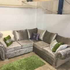 Big Chunky Corner Sofas Sofa Set Online Shopping Flipkart Ciara Velvet Hi 5 Home Furniture