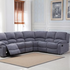 Leather Corner Sofa With Electric Recliner Most Comfortable Bed In The World Miami Fabric - Hi 5 Home Furniture