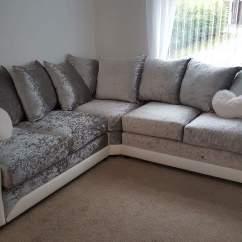 Crushed Velvet Sofa Fabric Wooden Bed Uk Shannon Ii Hi 5 Home Furniture
