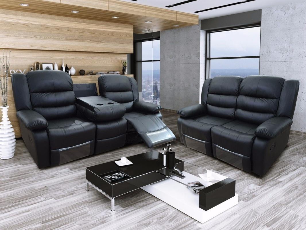 corner recliner sofa northern ireland collection warrington titan leather hi 5 home furniture