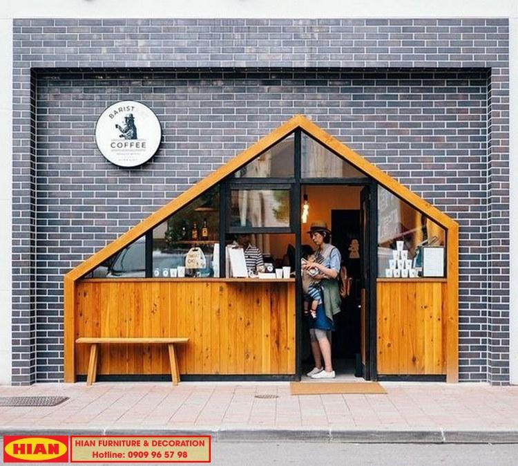 Thiết Kế Mặt Tiền Quán Cafe Nhỏ Đẹp