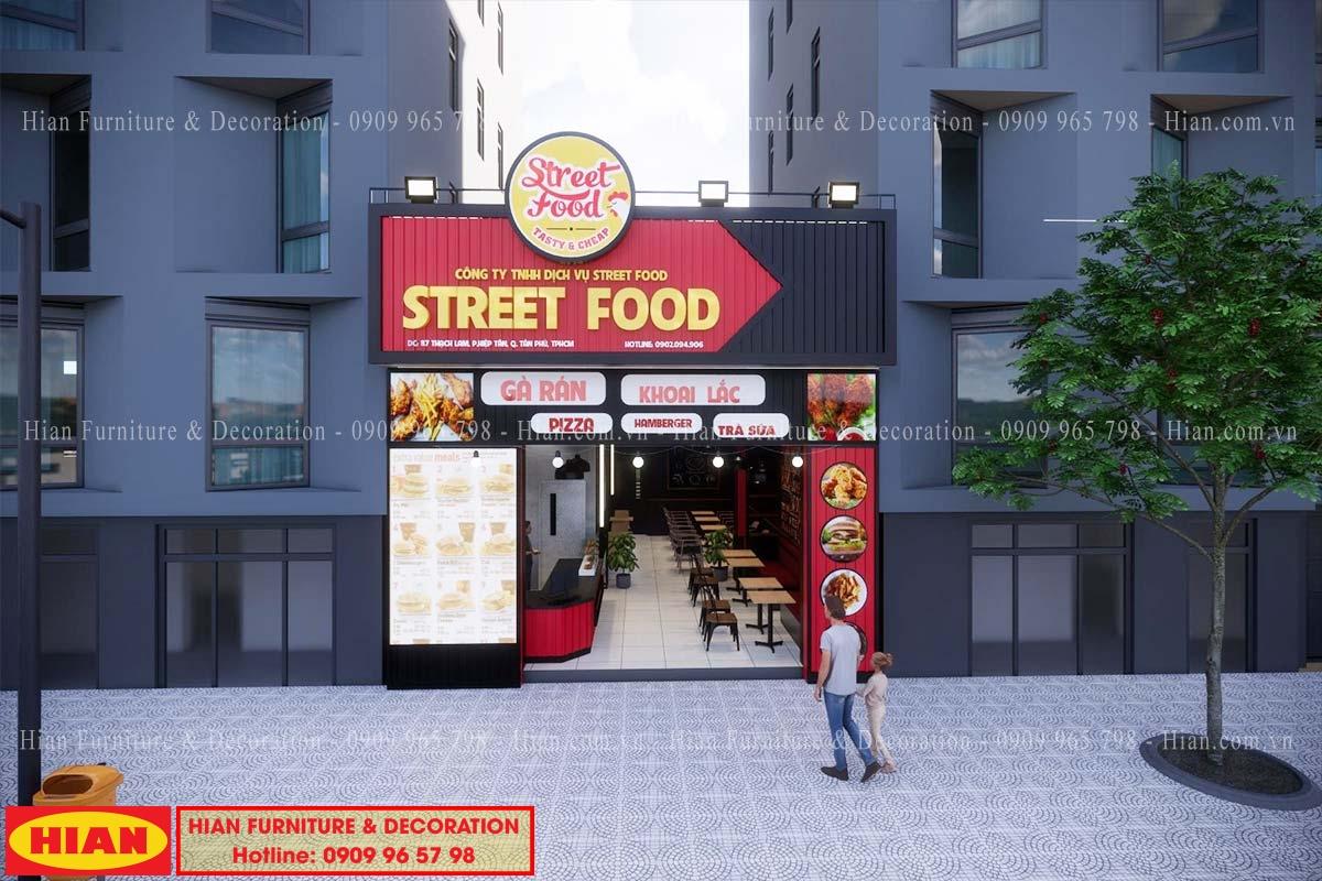 Thiết kế nhà hàng thức ăn nhanh