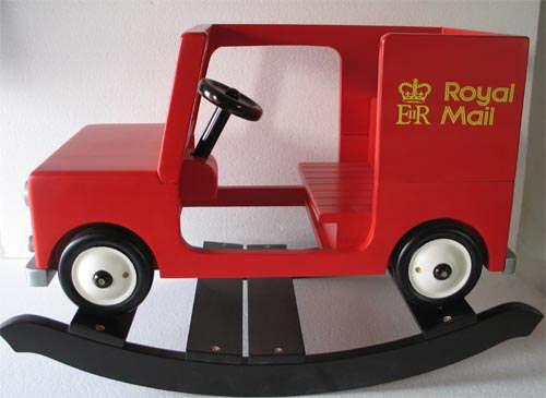 kids wooden rocking postman pat van and noddy car rocker