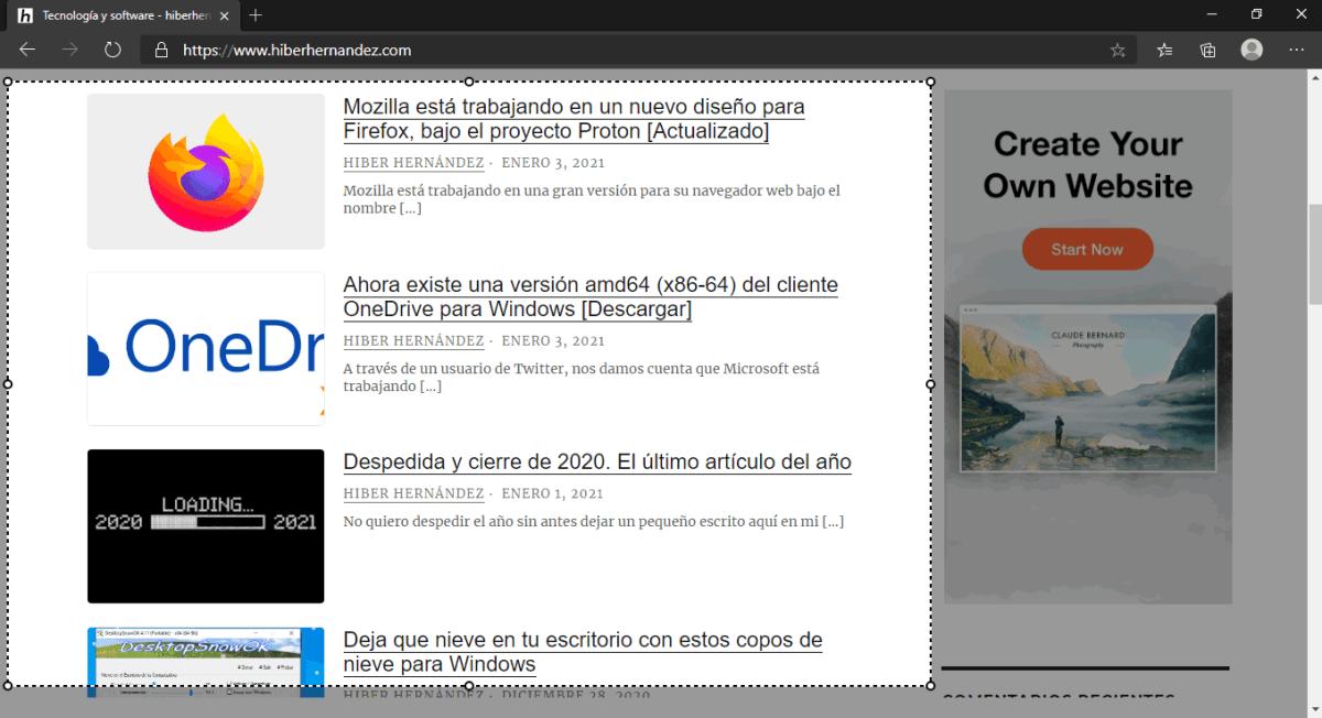 Dibujar con toque: Es la nueva función de la herramienta Captura Web de Microsoft Edge