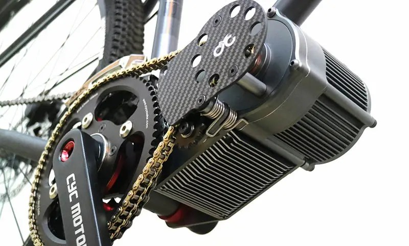 The X1-Pro electric motor can be mounted in various positions around the bottom bracket