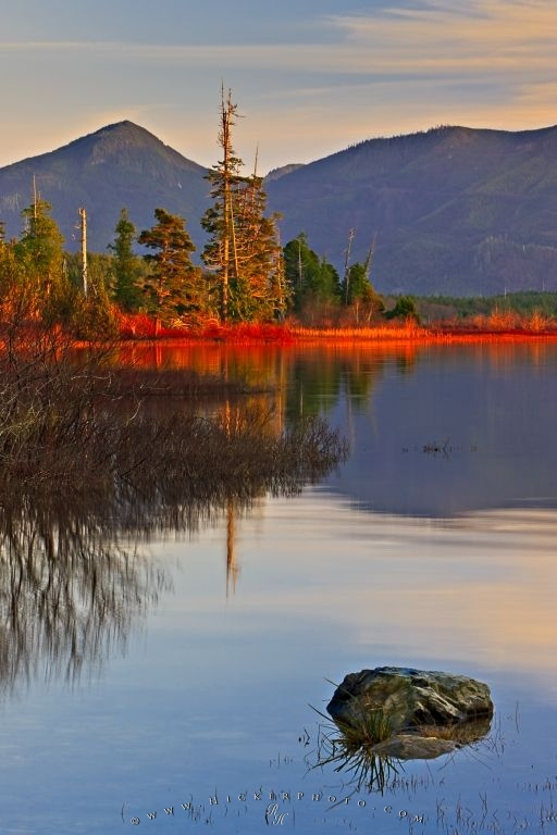 Fall Mountaons In The Sun Wallpaper Mountain Lake Wilderness Sunset Scenery Photo Information