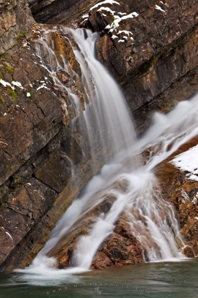 Waterton Lakes National Park Canada Cameron Falls Wallpaper Cool Water Details Waterfall Picture Photo Information