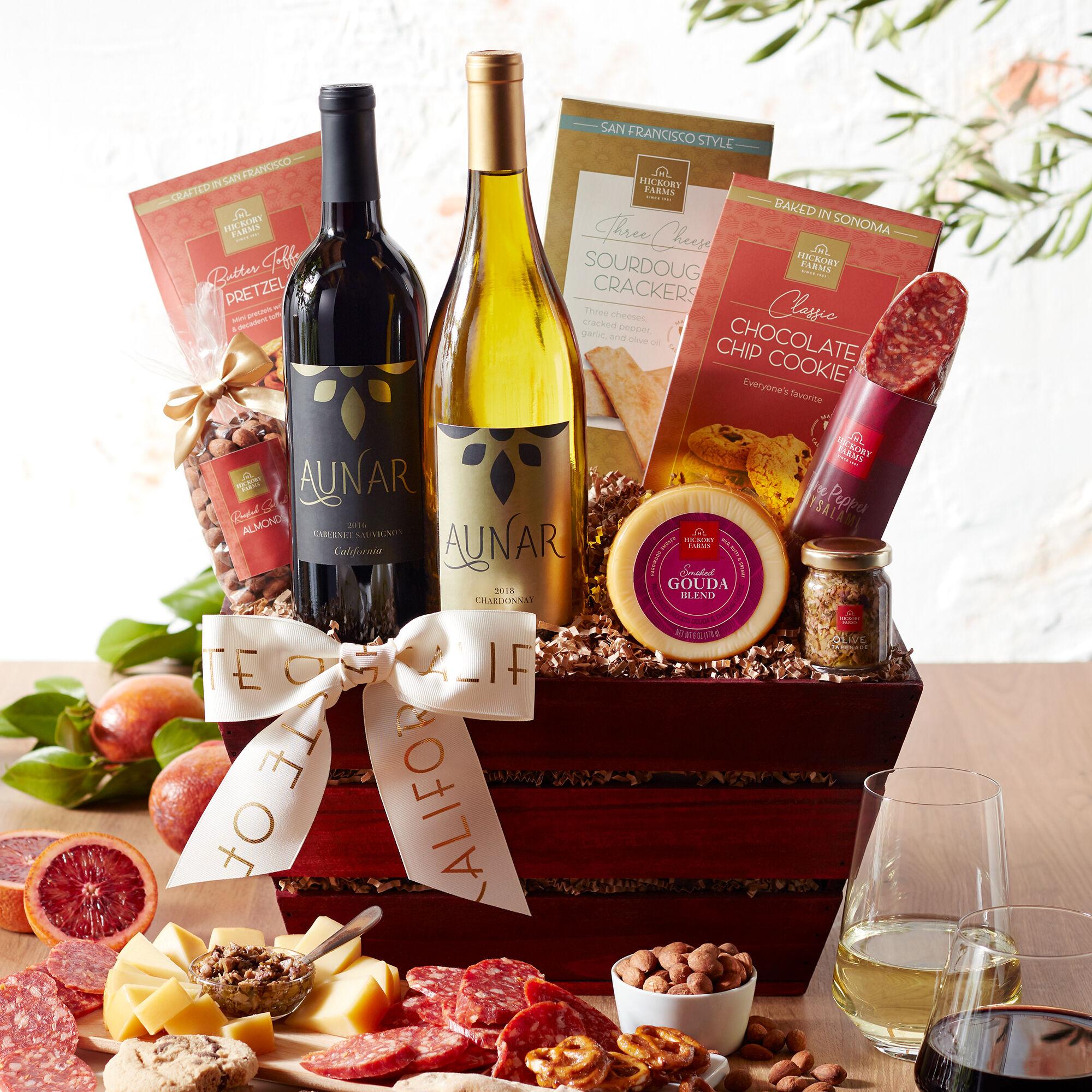Wine Christmas Gift Baskets
